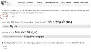 Hướng dẫn cách dùng Website Cbd Dosage Caculator để tìm liều lượng CBD của bạn