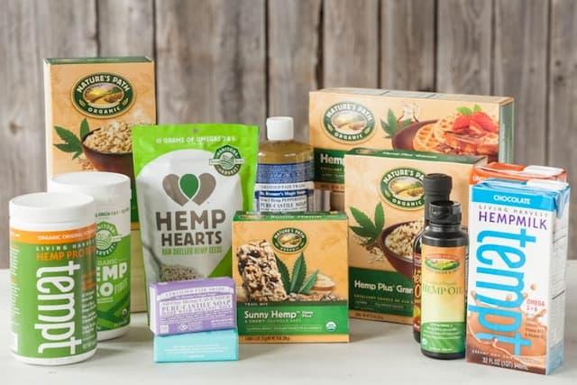Các sản phẩm đóng gói làm từ gai dầu mang giá trị dinh dưỡng cao